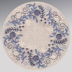hand embroidery in blue. I want to embellish my blue and white hexie quilt like . hand embroidery in blue. I want to embellish my blue and white hexie quilt like . Crewel Embroidery Kits, Embroidery Needles, Hand Embroidery Patterns, Ribbon Embroidery, Cross Stitch Embroidery, Handkerchief Embroidery, Hand Embroidery Projects, Embroidery Alphabet, Embroidery Shop