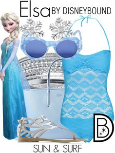 Not a huge fan of Frozen, but I do like the swimsuit. Could be used for a Genie themed one.