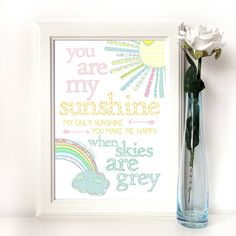personalised 'you are my sunshine' print by emily parkes art | notonthehighstreet.com