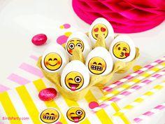 Emoji Inspired DIY Easter Eggs with Printables