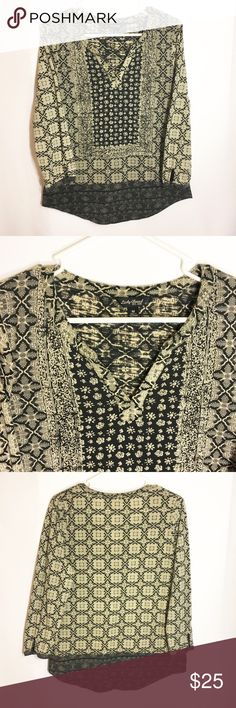 Lucky brand tunic 3/4 sleeve! Size medium! Make an offer! Lucky Brand Tops Tunics