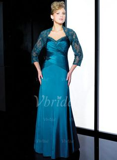 Mother of the Bride Dresses - $134.99 - A-Line/Princess Sweetheart Floor-Length Charmeuse Mother of the Bride Dress With Ruffle Beading (00805007073)