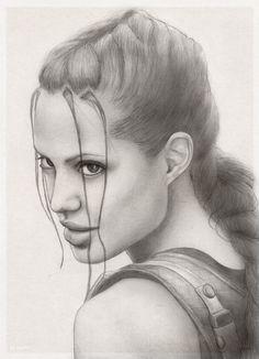 Lara Croft AJ portrait by redfill on #deviantART