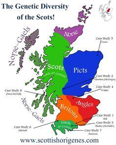 Medieval Ethnicity Map of Scotland