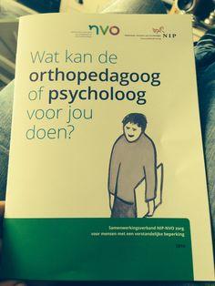 Orthopedagoog 'wat kan de orthopedagoog of psycholoog voor jou doen?' Mooie folder voor cliënten met een verstandelijke beperking. #rechten