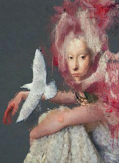 ⍕ Paintings of People & Pets ⍕  Sarah Jarrett   The Seagull