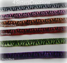 Items similar to Custom Print Zebra FOE Interchangeable Headband Fold Over Elastic on Etsy Black Apple, Hair Ties, Purple And Black, Headbands, Etsy Shop, Trending Outfits, Unique Jewelry, Handmade Gifts, Vintage