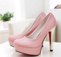 #Thick Platform#Thick Platform Glossy Surface Pumps Pink http://www.clothing-dropship.com/thick-platform-glossy-surface-pumps-pink-g1353931.html
