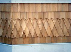 Cedar Shingles Detail - South End Halifax (MRB Contracting) Cedar Shingle Siding, Cedar Shingles, House Cladding, Timber Cladding, Tree House Interior, Stone Exterior Houses, Cedar Roof, Wooden Facade, House Trim