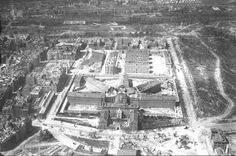 Panorámica de la Carcel Modelo años 30, a la derecha lo que luego sería el Parque del Oeste y detrás el cuartel del infante Don Juan