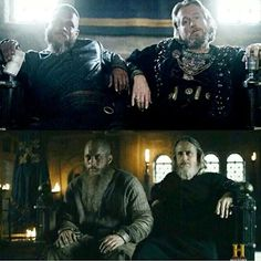 Vikings-King Ragnar & King Echbert