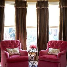 pink home libraries | ... pink velvet chairs, pink skirted chairs, pink rolled arm chairs, pink
