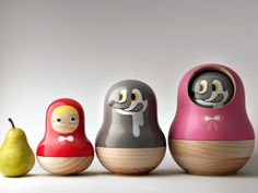 By Mike He, Little Red Riding Hood Matryoshka Set, designed to be used as food containers