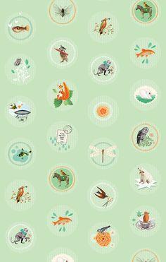 #wallpaper #Behang #Vintage Friends   Pimpelmees via Kinderkamerstylist Kids Wallpaper, Kidsroom, Little Boys, Playroom, Girly, Friends, Pattern, Inspiration, Design
