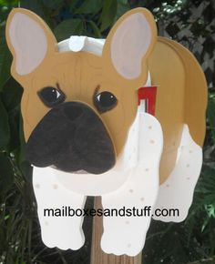 Offering an adorable French Bulldog Mailbox. Let us custom paint a French Bulldog mailbox for you