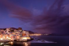 Boccadasse di notte by RobMenting.
