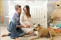 Maternity photos taken in the nursery :) You can get Emma and Harley in on this one.