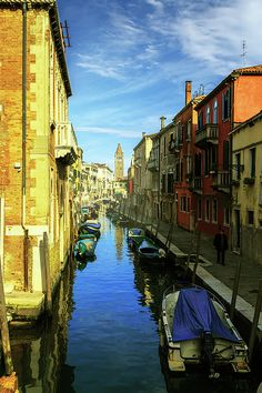 George Westermak Photograph - one of the many Venetian canals on a Sunny summer…