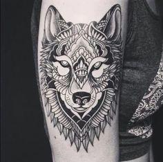 lobo projeto do tatuagem