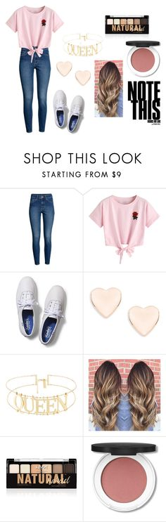 """""""Back to School"""" by ava-kam ❤ liked on Polyvore featuring H&M, WithChic, Keds, Ted Baker and NYX"""