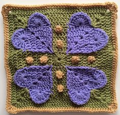 """Never Ending Love 12"""" Square pattern by Aurora Suominen"""
