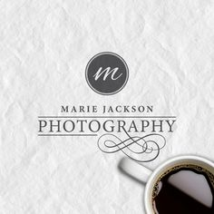 Custom Premade Logo and Watermark, Elegant Font, Swirl Photography Logo, Vintage Logo. $14.99, via Etsy.