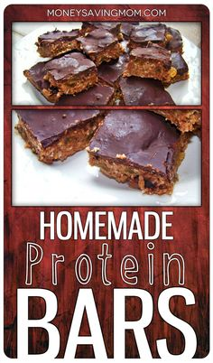 Repinned:  Homemade Protein Bars -- the best recipe I've ever tried!