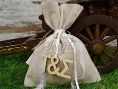 . Wedding Favors, Burlap, Reusable Tote Bags, Shower, Wedding Keepsakes, Rain Shower Heads, Hessian Fabric, Showers, Favors
