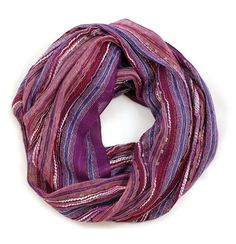 Women's Bliss Shimmer Infinity Circle Loop Scarf (Purple Sparkle). Shawls. Beautiful Holiday Fashion Gift Ideas for Her
