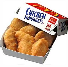 When you open up a 6 pack of McDonalds Chicken Nuggets you would think that you are just getting a fried piece of chicken goodness right?
