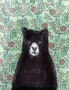 "Bear by Jane Cabrera. Repinned by Elizabeth VanBuskirk, author of ""Beyond the Stones of Machu Picchu,"" a collection of stories and three folk tales about Inca life today. Inspiration for drawing Andean animals?"