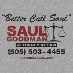 [ Breaking Bad – Better Call Saul T-Shirt ] has just appeared on www.ShirtRater.com! Do you like this shirt? Come and rate it at http://www.shirtrater.com/breaking-bad-better-call-saul-t-shirt/