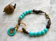 happy acorn bracelet . . . by marthasrubyacorn on Etsy