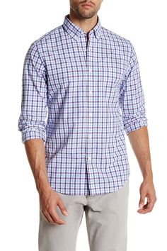 Washed Gingham Slim Fit Shirt