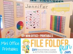FREE Mini Office Printables from the Crafty Classroom.