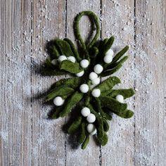 Smart idea, since the real stuff is toxic.  #felt mistletoe #winter #westelm $6