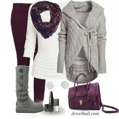 Plum outifit |winter| womens fashion| teen fashion