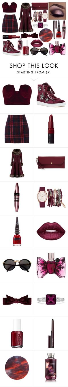 """""""Wine"""" by fireflies-oceaneyes ❤ liked on Polyvore featuring Lola Cruz, Oasis, Bobbi Brown Cosmetics, Collectif, Henri Bendel, Maybelline, True Craft, Manic Panic NYC, Lime Crime and Cartier"""