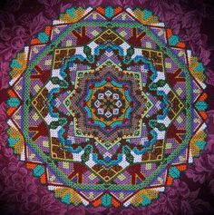 Kaleidoscope of Colour! Greenland Beaded Glass Table Mat