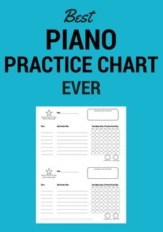 Piano Lessons For Kids, Music Lessons, Kids Piano, Piano Practice Chart, Piano Classes, Best Piano, Piano Teaching, Teacher Resources, Teaching Ideas