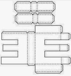 Alfabeto Paper Crafts Origami Paper Art Paper Toys Letters Letter E Printable Letters Printable Box Alphabet Templates 3d Alphabet, Alphabet Templates, Cardboard Letters, 3d Letters, Letters And Numbers, Box Patterns, Felt Patterns, Paper Crafts Origami, Printable Letters