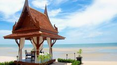 Private beach dining and Thai architecture at Anantara Hua Hin Resort & Spa, Thailand. See more of the resort here: http://www.kiwicollection.com/hotel-detail/anantara-hua-hin-resort-spa-thailand#