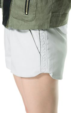 LEATHER EFFECT SHORTS WITH QUILTED SIDES £20