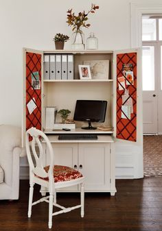 Buy the New England Home Office Armoire at the official online shop of the Ideal Home Show Exhibition. We've hand-picked the best New England Home Office Armoire for you to buy online. Home Office Cabinets, Home Office Storage, Home Office Space, Home Office Desks, Home Office Furniture, Office Decor, Office Ideas, Desk Space, Furniture Ideas