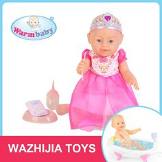 Guangdong famous factory 16 inch funny toy baby doll with nipple for kids #Wink, #Funny