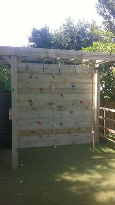 A sturdy energy busting climbing frame Outdoor Fun For Kids, Outdoor Play Areas, Backyard For Kids, Backyard Projects, Outdoor Projects, Backyard Patio, Backyard Landscaping, Outdoor Games, Climbing Wall Kids