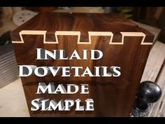 How to make Inlay Dovetails - YouTube
