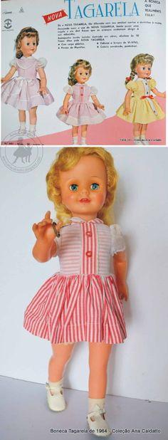 bonecas anos 60 | Boneca Tagarela de 1964, eis a boneca com seu amável sorriso e ...