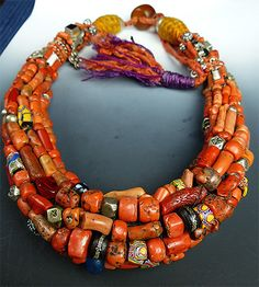 Musuem Quality Coral Berber Necklace