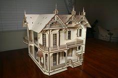 Victorian Dollhouse Mansion van VictorianDollhouse op Etsy
